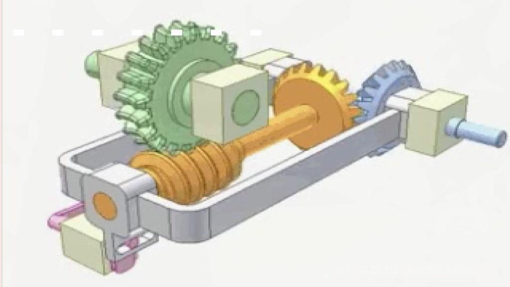 直观的机械原理,这是一个设计巧妙的蜗轮离合器