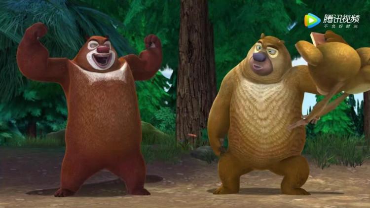 熊出没吉吉国王和毛毛简笔画内容图片展示