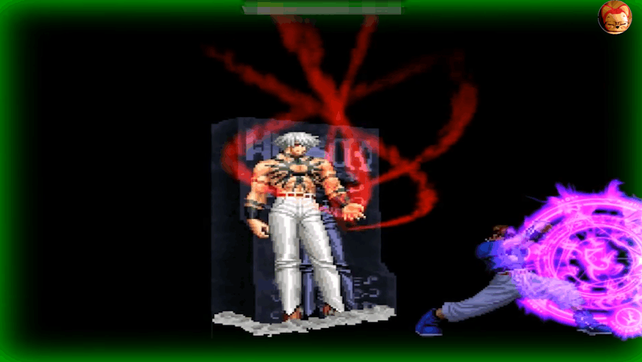 拳皇当大蛇和k合体之后真的无敌 最后变身大蛇的瞬间