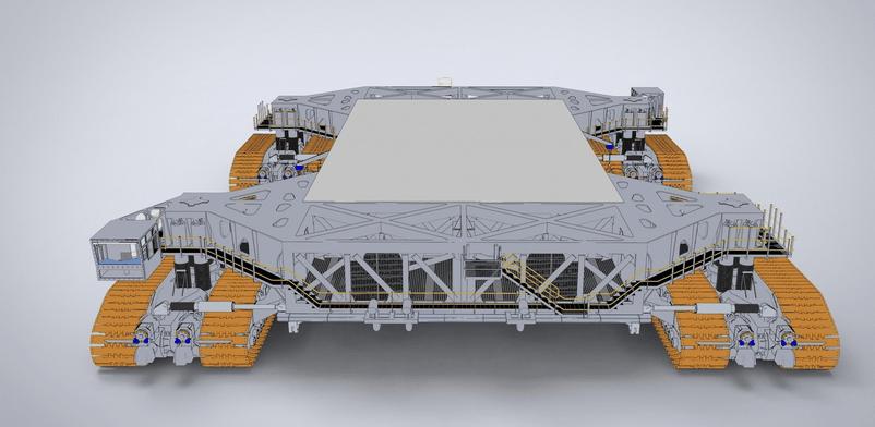 全球最大的航天飞机运输车, 每公里油耗350升满载八千