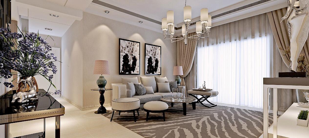 10张精美的客厅装修效果图, 温馨时尚