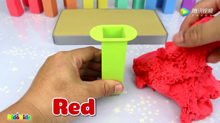 亲子早教儿童玩具太空沙创意手工制作彩虹色钉板学习英语