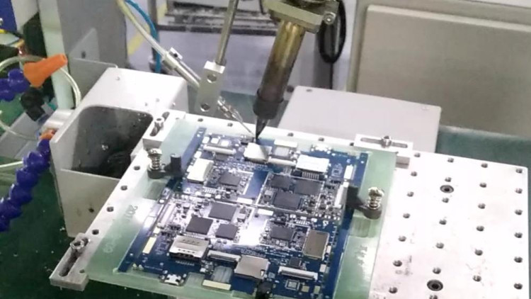 浩盛泰四轴焊锡机平板电脑主板耳机插座焊接视频
