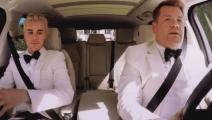 詹姆斯·柯登联手贾斯汀·比伯(Justin Bieber)车内上演激情秀