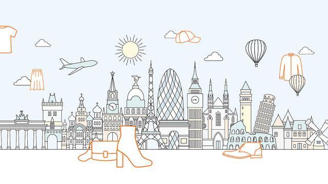 世界城市简笔画