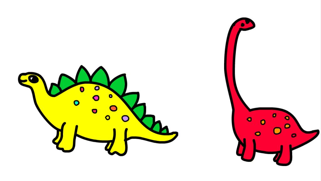 二年级画画恐龙最简单