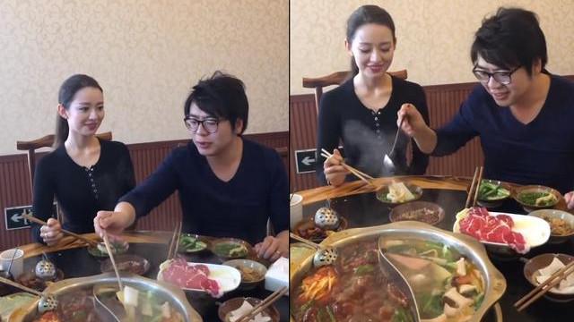 妻子坐着都能展现3D身材, 好似人间芭比 郎朗携妻现身重庆吃火锅,