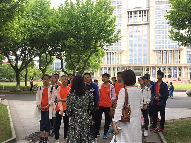 青岛实验高中上海游学第五站——走进复旦大学