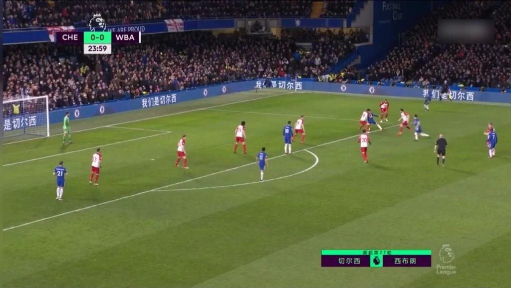 足球: 精妙配合!切尔西打出撞墙式配合,阿扎尔大脚强力破门!