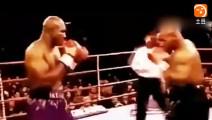 """令人窒息的35记""""毁容拳"""", 霍利菲尔德输给泰森的拳击视频"""