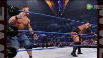 WWE年轻时的约翰塞纳VS里克希,紧接着去后台打大布!