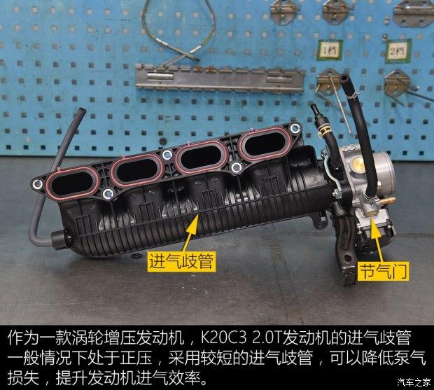 进气,供油和点火系统 本田的这台k20c3 2.0t发动机是继l15b9 1.