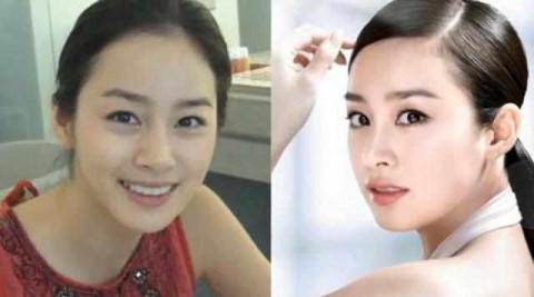 韩国女明星化妆前后对比, 第1名曾担任神曲mv女主角