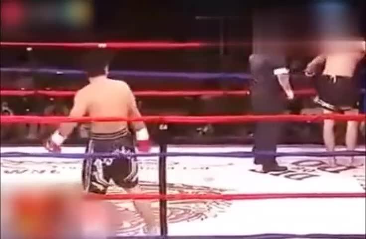 初上擂台,王洪祥初登擂台就KO美国第一拳王