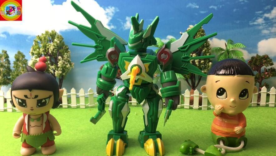 葫芦娃和大头儿子玩斗龙战士森美拉玩具拆箱