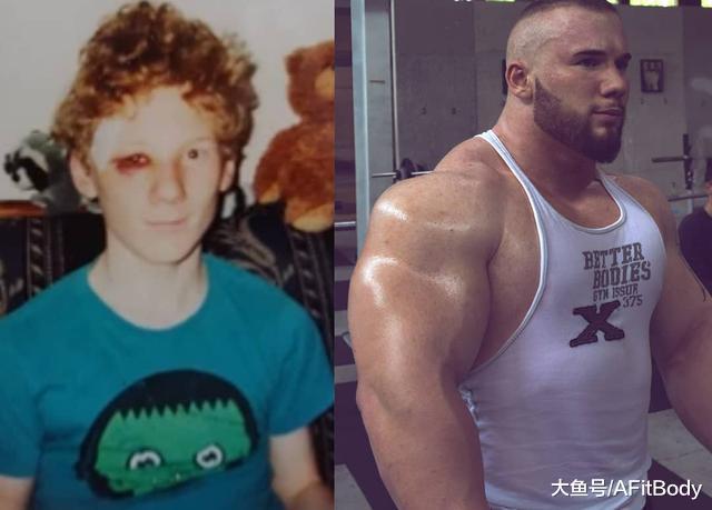 瘦弱少年常被欺负, 健身6年壮如熊, 最爱3个动作