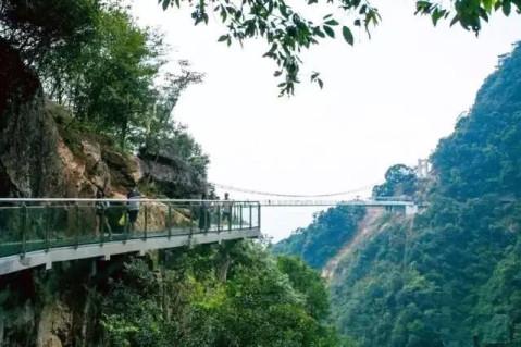 玻璃桥 正 式 开 放 了 桥身悬于望乡台, 横穿万丈深谷, 直通险峻山峰