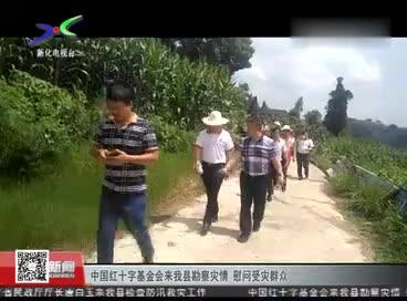 中国红十字基金会来我县勘察灾情 慰问受灾群众