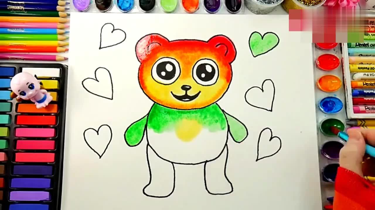 动物名称口红染色3d动画颜色英语 打开 彩泥黏土手工制作蛋糕视频玩具