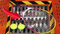 把网球扔到碎纸机里,会发生什么事?
