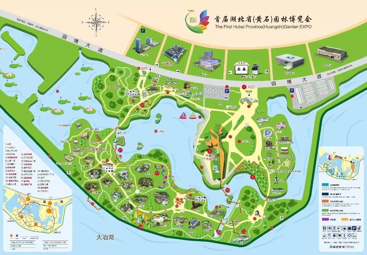 首先,双手奉上高清手绘地图!为准备去游园的游客提供便利!