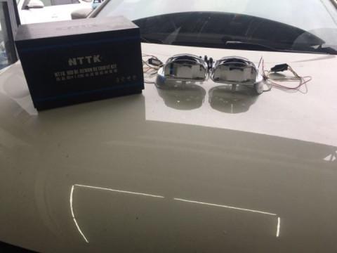 丽江酷车客汽车灯光升级, 大众朗逸大灯升级nttk超级双光透镜套装!