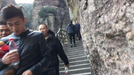 雁荡山国家森林公园 灵岩景区 崖壁栈道 世界地质公园