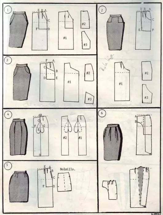 半身裙制版图_图解九种半身裙的制版方法(牵着你的心整理)