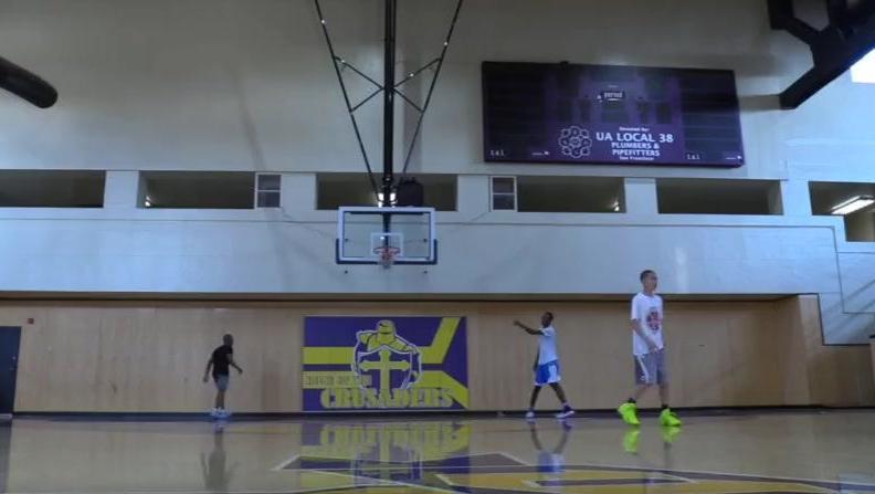 美国篮球比赛 1对1 单挑 初中生VS高中生
