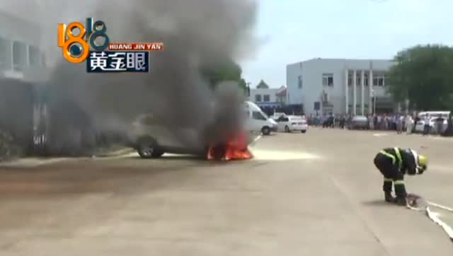 百家车坛: 车管所内, 一辆长安SUV还没上牌就突然起火了