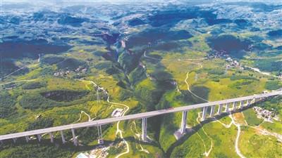 大方县油杉河风景区三岔河瀑布