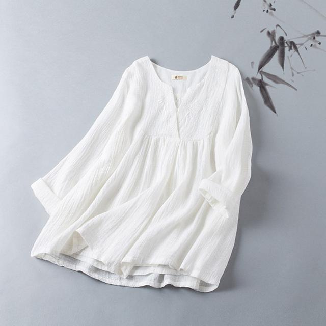 棉麻半身裙_文艺风十足的时髦棉麻春装正流行, 搭半身裙遮住小肚腩淑女范立显