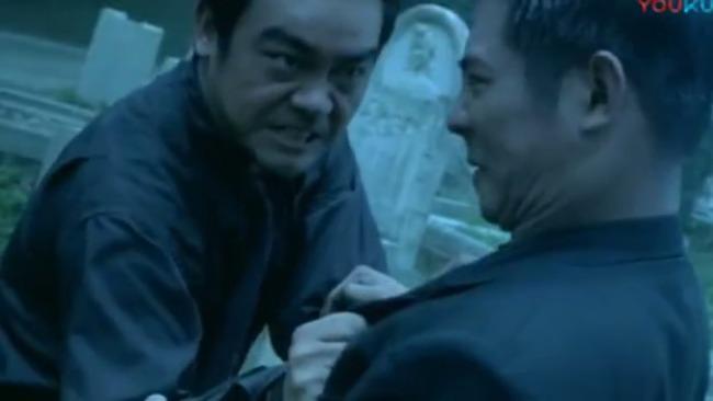 李连杰被刘青云挑衅, 老虎不发威, 当老子是病猫吗?