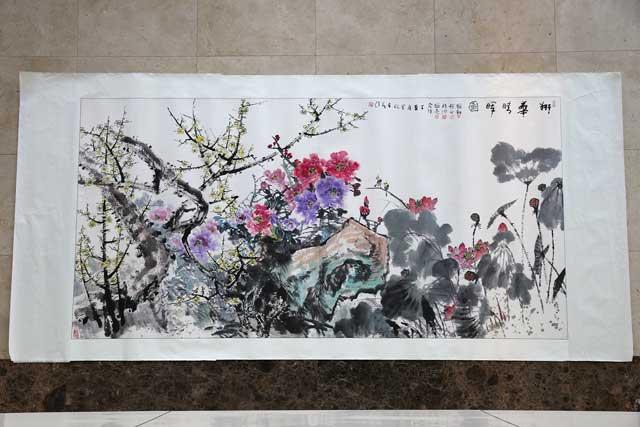 杨在茂 中国书法家协会会员,青岛市书法家名誉主席,青岛画家美术创作