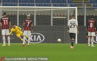 亚兹奇戴帽瞬间,里尔1-0领先AC米兰