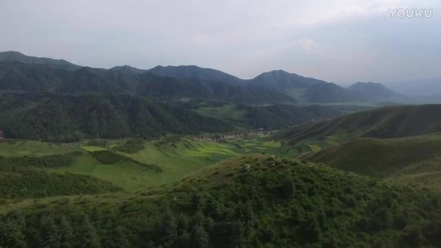 青海西宁市大通县乡村旅游扶贫产业园核心区航拍!这景色美啊!