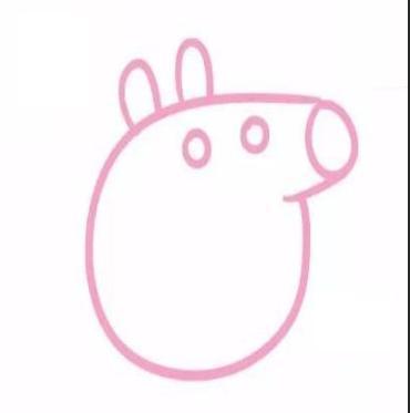 画上猪爸爸的胖胖圆圆身体,弯月一样的嘴巴.