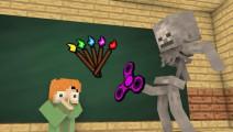 我的世界: 怪物学院,原来指尖陀螺还可以这样玩