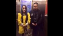 这个视频告诉我们: 电梯里耍流氓不要太怂