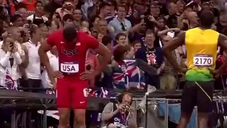 牙买加男子4X100米接力破世界纪录,博尔特接棒后还敢换手