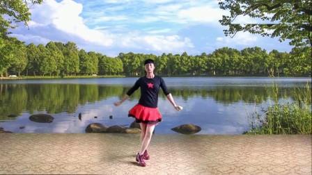 2018最新 蓝天云广场舞 水兵舞《乌毡帽情缘》
