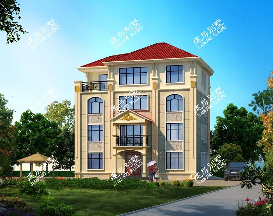 11.8×13米四层农村别墅, 棘手的地形对设计师来说小意思