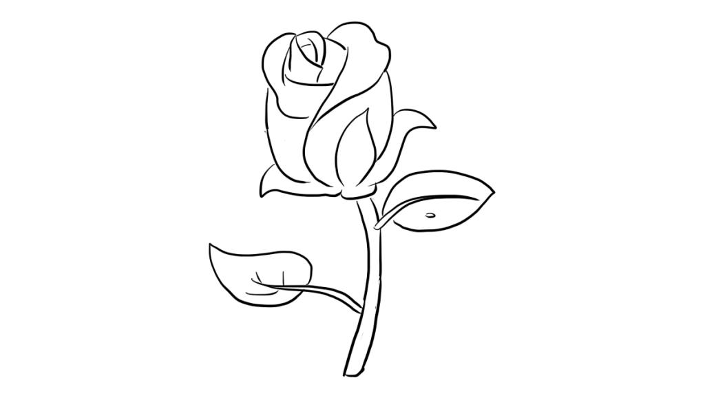 一学就会的玫瑰花简笔画画法 亲子简笔画视频教程大全