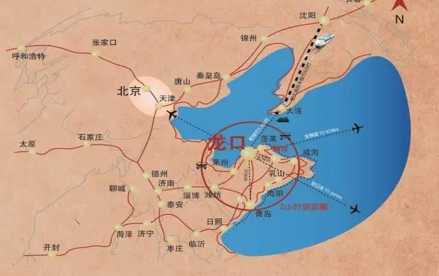 青岛大连旅游地图