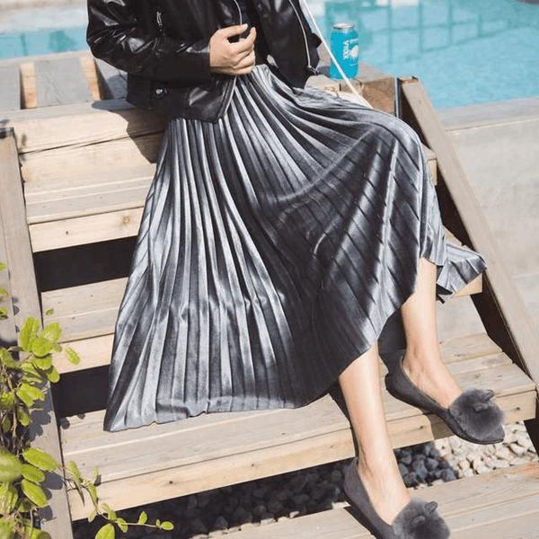 """百褶裙 半身裙_2017春夏新款高腰短裙、蓬蓬裙、百褶裙, 让你""""裙裙心动"""""""