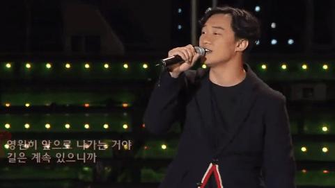 陈奕迅《路·一直都在》中韩歌友会现场版,Eason的歌总是给人力量,充满希冀!