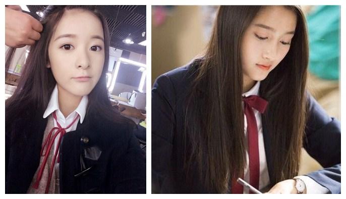 童星关晓彤徐娇同样19岁, 同样校服装扮气质却差太多图片