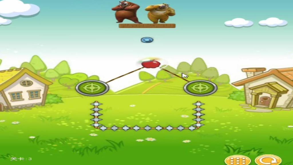 熊出没熊二熊大射击苹果,健康益智休闲娱乐儿童早教育儿游戏