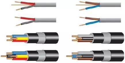 2,用双芯导线或双根绞线连接的交流电路: 红黑色并行.