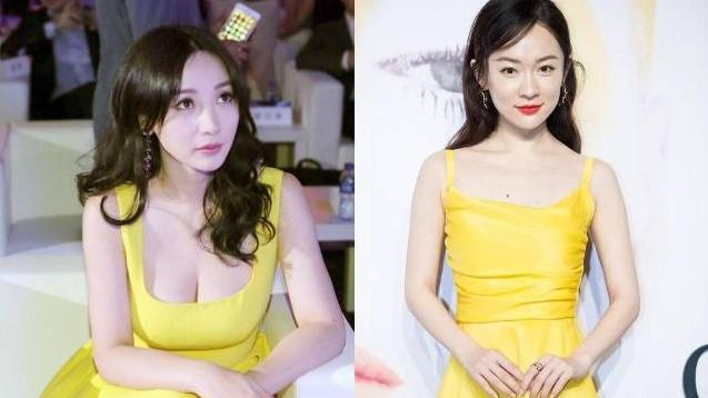 """大胆挑战""""蛋液裙"""", 网友: 杜江捡到宝了 39岁霍思燕太高级了,"""
